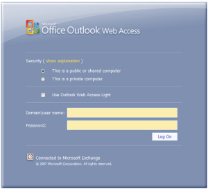 Outlook web access login