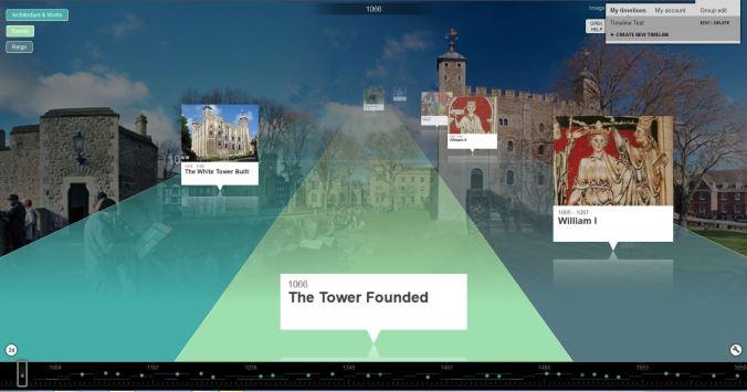 Tower of London 3D Tiki-Toki timeline